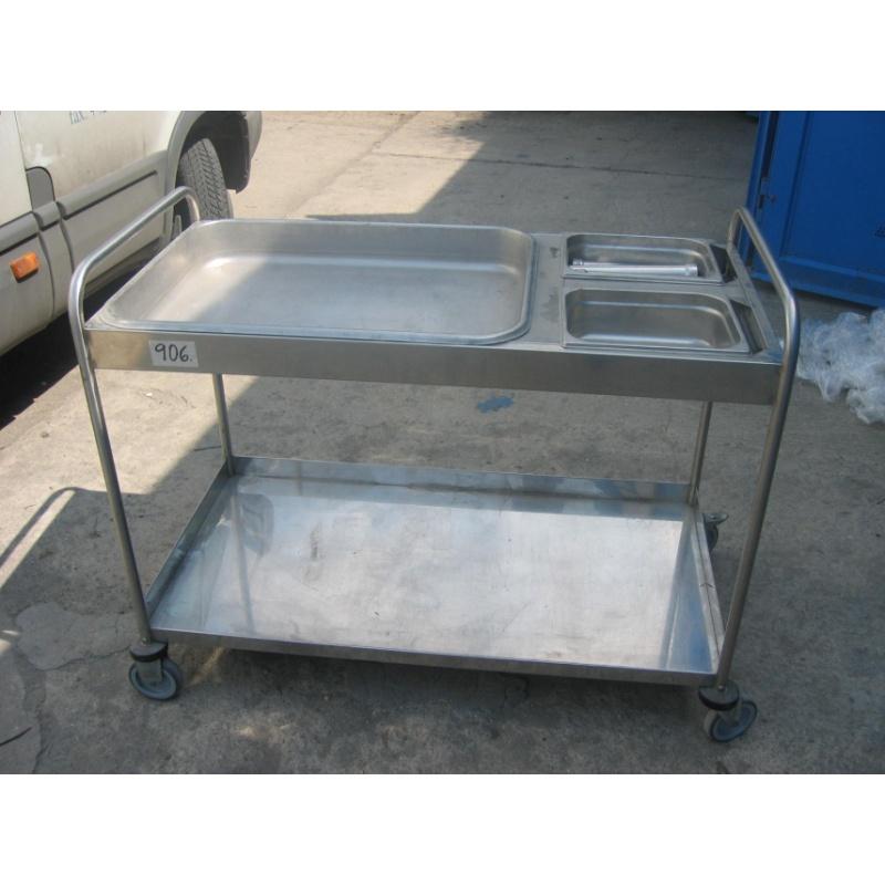 Pojízdný vozík – nerez na GN