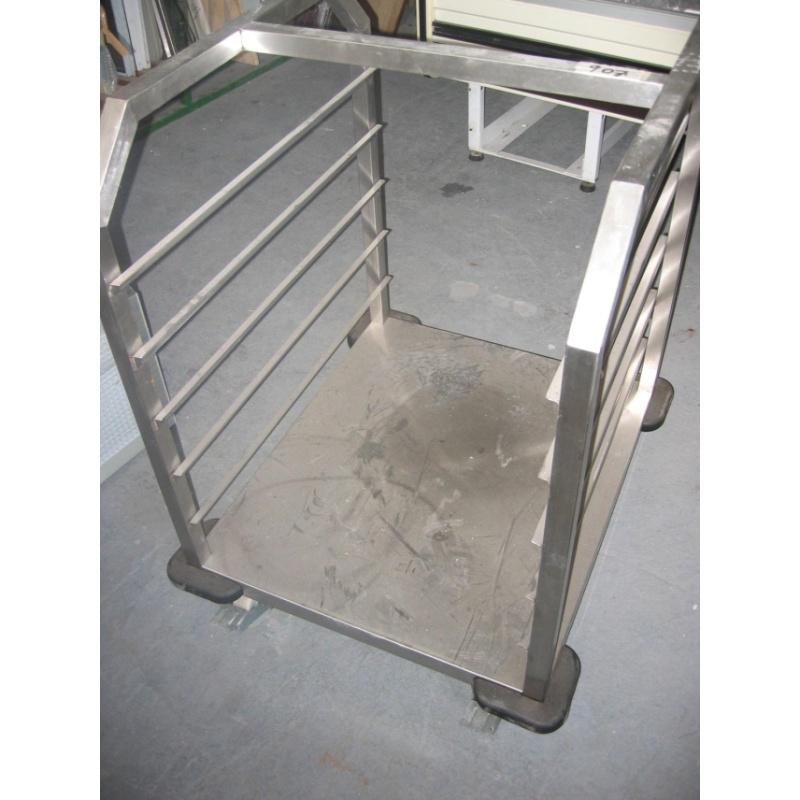Pojízdný vozík na plechy – nerez